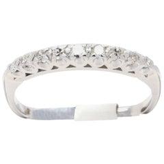 Vintage Art Deco Diamond Platinum Half Eternity Band or Wedding Ring