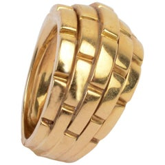 Cartier Maillon Panthere Domed Gold Ring