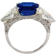 Tiffany & Co. Gubelin Certified 4.65 Carat Royal Blue Burmese Sapphire Ring
