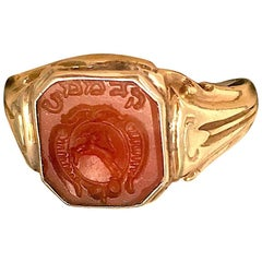 Gold Hebrew Letter Signet Ring