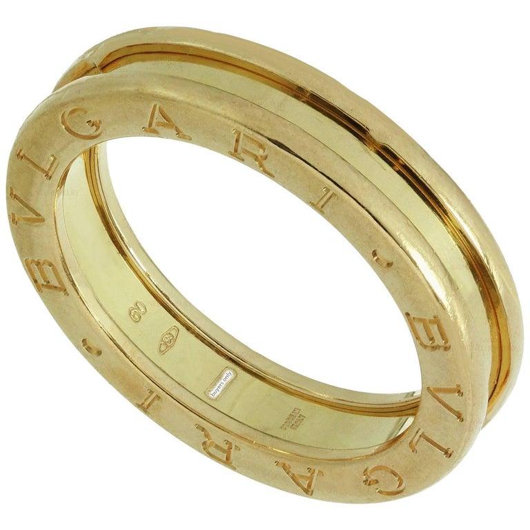 Bulgari B.Zero1 1-Band Rose Gold Ring. Sz.9-EU 60