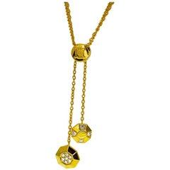 Celine Diamond Necklace 18 Karat Yellow Gold