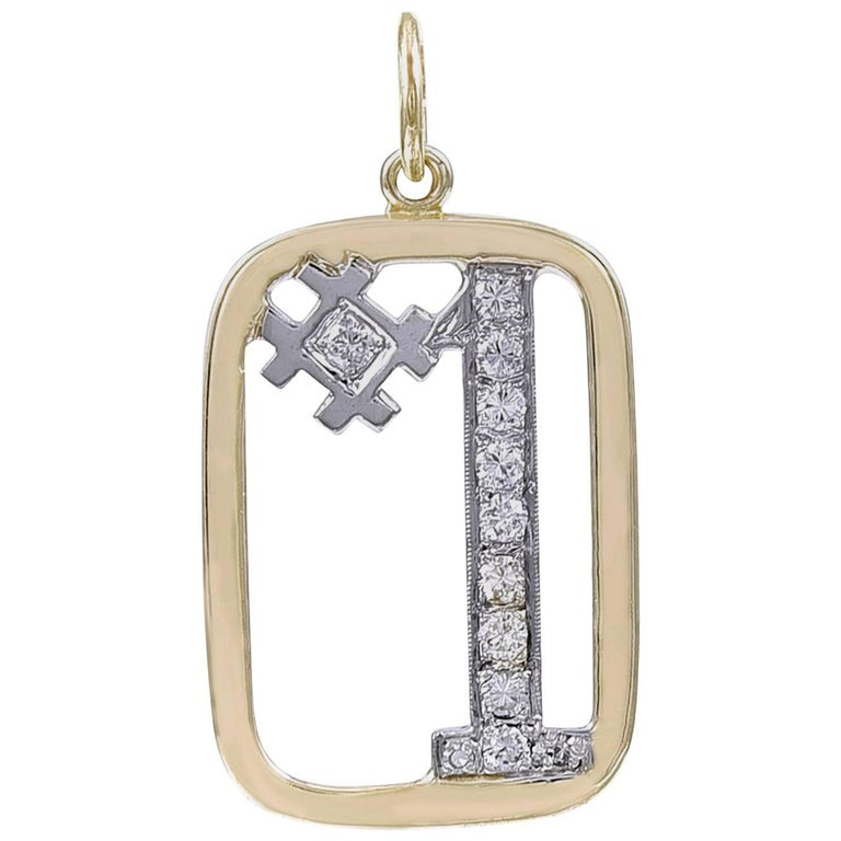 Gold and Diamond # 1 Charm