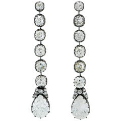 Old European-Cut Diamonds Detachable Earrings