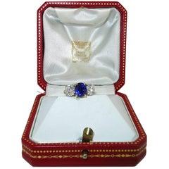 Cartier Diamond and Sapphire Ring
