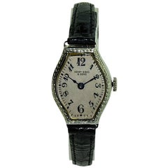 Birks and Sons Ladies White Gold Art Deco Manual Watch