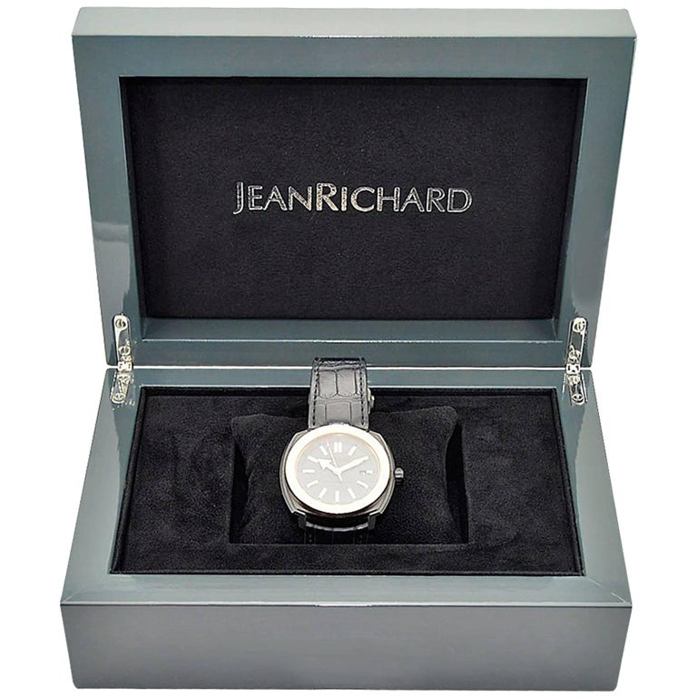 Jean Richard Matte Black and Rose Gold Terrascope Automatic Watch