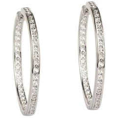 Diamond Set Hoop Earrings 2.59 Carat