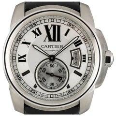 Cartier Stainless Steel Calibre De Cartier Automatic Wristwatch Ref W7100037