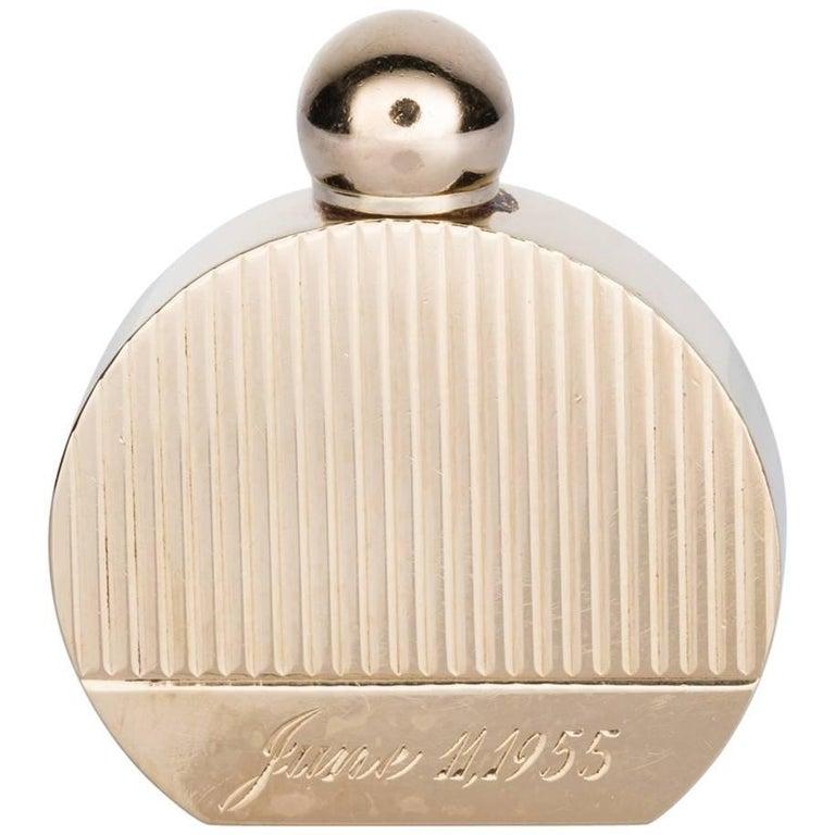 14 Karat Yellow Gold Miniature Perfume Bottle