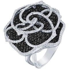 6.33 Carat Black Diamond Cocktail Ring