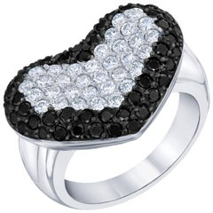 1.91 Carat Black Diamond Cocktail Ring