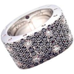 Roberto Coin Pois Moi Black and White Diamond White Gold Band Ring