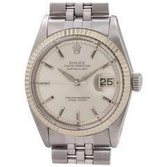 Rolex Stainless Steel Datejust  self winding Wristwatch Ref 1601, circa 1962
