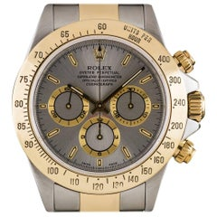 Rolex Yellow Gold Stainless Steel Zenith Movement Cosmograph Daytona Wristwatch