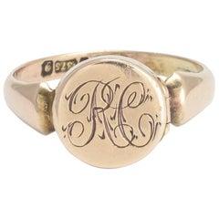 Edwardian RC Monogram Locket Ring