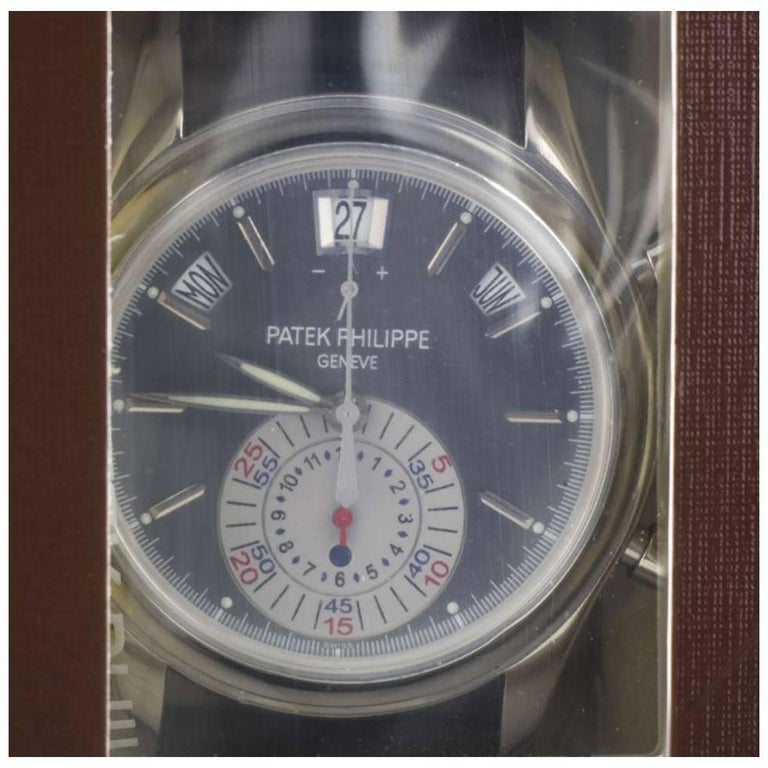 Patek Philippe Platinum Service Sealed  Annual Calendar Wristwatch Ref 5960P-001