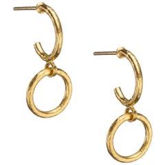 """Gurhan """"Hoopla"""" Drop Earrings in 24 Karat Yellow Gold"""