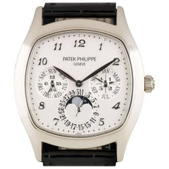 Patek Philippe White Gold Perpetual Calendar Moonphase automatic Wristwatch