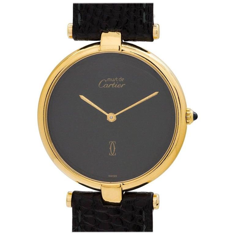 Cartier Ladies Vermeil Vendome Tank quartz wristwatch, circa 1990s
