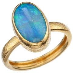 """Gurhan """"Amulet"""" Opal Ring in 24 Karat Yellow Gold"""