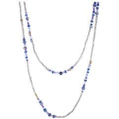 "Gurhan ""Vertigo"" Tanzanite, Kyanite and Iolite Necklace in Gold and Silver"