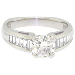 Scott Kay Platinum Diamond Ring 1.6 Carat Total Weight