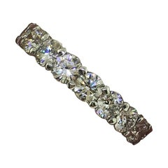 Round Diamond Platinum Eternity Band 3.93 Carat