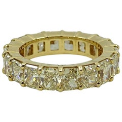 7.68 Radiant Fancy Yellow Diamond Eternity Band