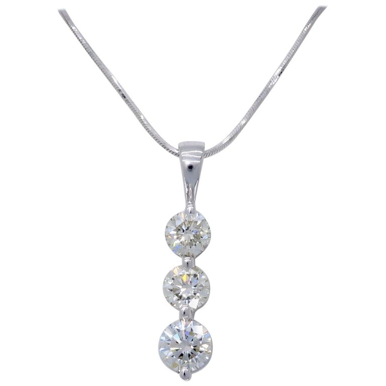 Three stone past present future 100 carat diamond drop necklace at three stone past present future 100 carat diamond drop necklace for sale aloadofball Gallery
