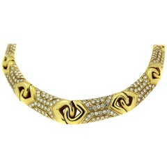 Bulgari Yellow Gold and Diamond Collar Necklace