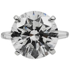 GIA Certified J. Birnbach 7.33 Carat H VVS2 Round Brilliant Cut Diamond Ring