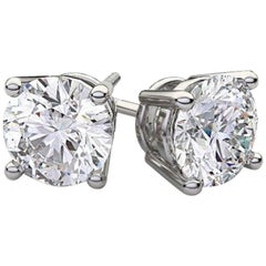 2.40 Carat Diamond Studs J Color, VS1-SI1