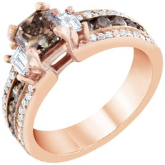 1.88 Carat Rose Gold Fancy Diamond Ring
