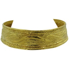 Lalaounis Textured Gold Choker Necklace