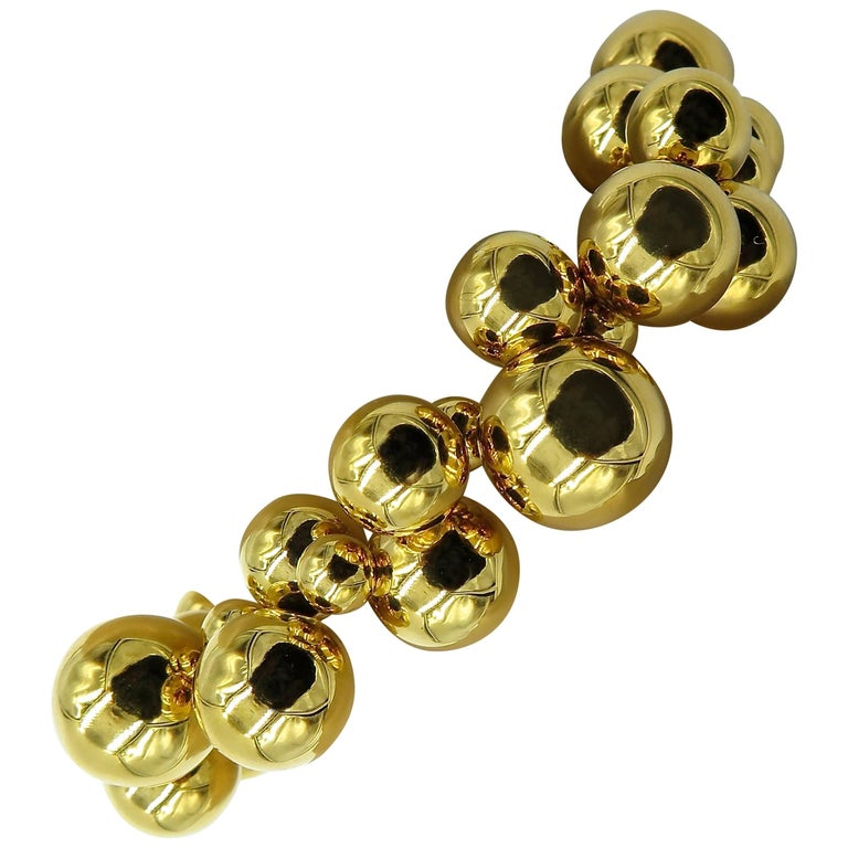 Marina B. Gold Bead Bracelet For Sale