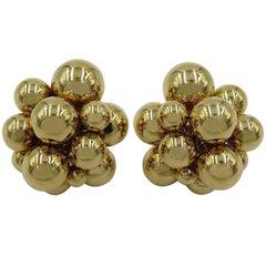 Marina B. Gold Bead Earrings
