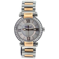Chopard Rose Gold Stainless Steel Diamond Imperial Quartz Wristwatch