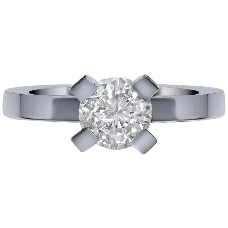 Alex Soldier 1.2 Ct D Color Internally Flawless GIA Diamond Gold Engagement Ring