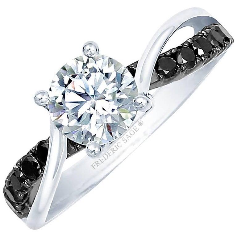 Frederic Sage 1 Carat Black Diamond Ring Centre Diamond Not Included