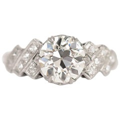 1.51 Carat Diamond Platinum Engagement Ring