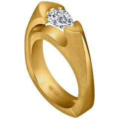 Alex Soldier Diamond Yellow Gold Passion Engagement Ring One of a Kind