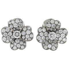 Van Cleef & Arpels Cosmos Collection Heart Petal Diamond Earrings White Gold
