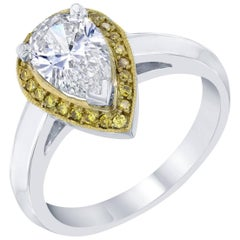 1.18 Carat Solitaire Diamond Ring Pear Cut