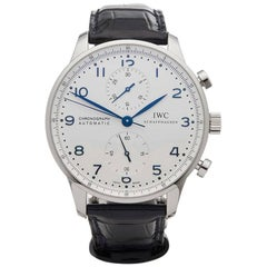 IWC Stainless Steel Portuguese Chronograph Automatic Wristwatch Ref IW371446