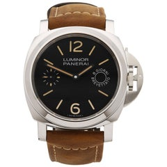 Panerai Stainless Steel Luminor 8 Day Power Reserve Automatic Wristwatch
