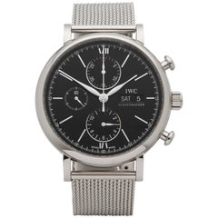 IWC Stainless Steel Portofino Chronograph Automatic Wristwatch Ref IW391010