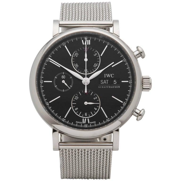 IWC Stainless Steel Portofino Chronograph Automatic Wristwatch Ref IW391010
