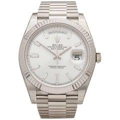 Rolex White Gold Diamond Dial Day-Date Automatic Wristwatch Ref 228239, 2016