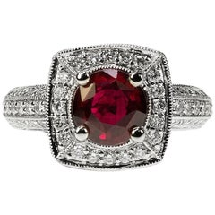 Pigeon Blood No Heat Ruby Ring